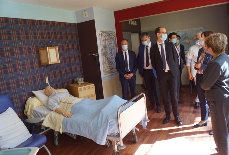 Visite du Directeur de l'ARS et de la Présidente de Région BFC à l'IFSI-IFAS de Mâcon